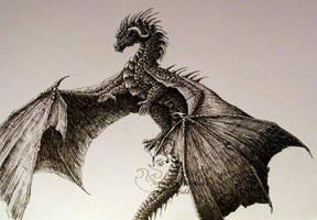 Ink Dragon 4 -Flight by chaosia
