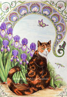 Tigsey among the Irises by chaosia