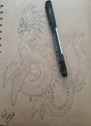 Crested Serpent sketch by chaosia