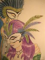 Masquerade Couple by chaosia