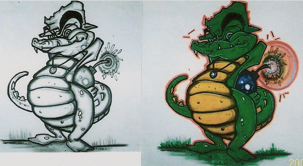 Gator before and after.. by airmoe69