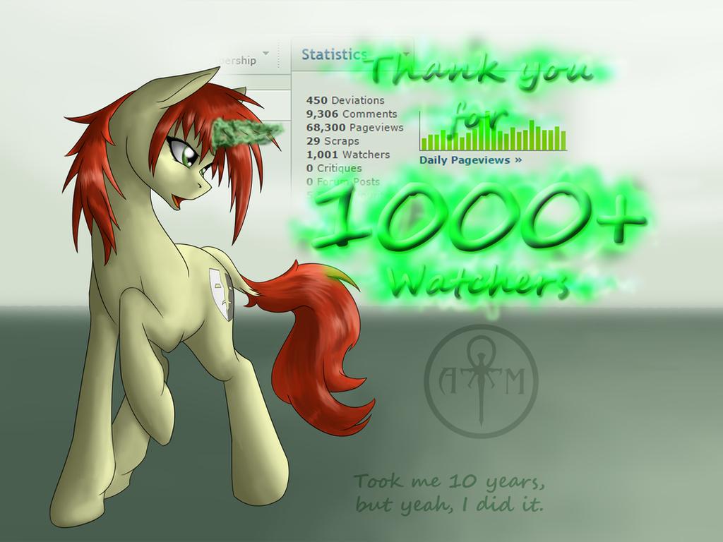 woohooo 1000 watchers! by Adalbertus