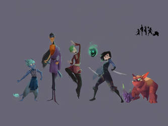 DnD Character Lineup by desertxue