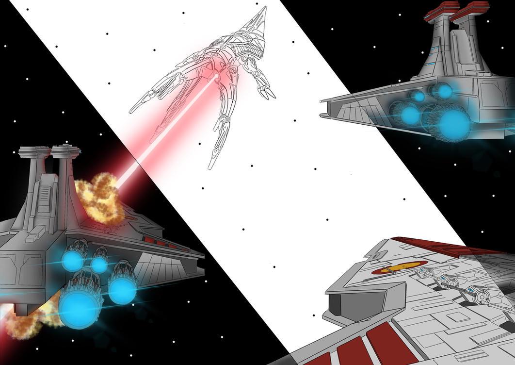 Republic VS Reaper (A-Level Final Design Art Exam) by shineytrooper