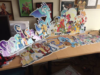 My gift art die cuts at DHX Studios  by ramivic