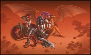 Monster schoolgirls by Karbo