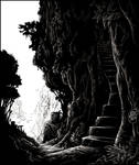 Stairway to the mine