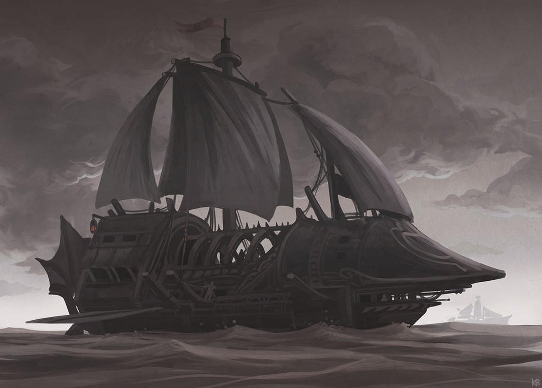 Ship in a stormy sea by Karbo