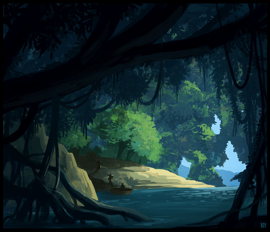 Gentle creek speed painting by Karbo