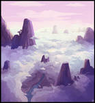Above the clouds speed painting