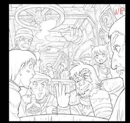 Tavern scene WIP