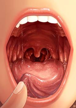Tongue curl up