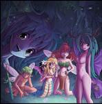 Naga and fairies by Karbo
