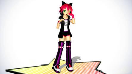 MMD Model: WannabeNeko-Shay by xNeonPistolx