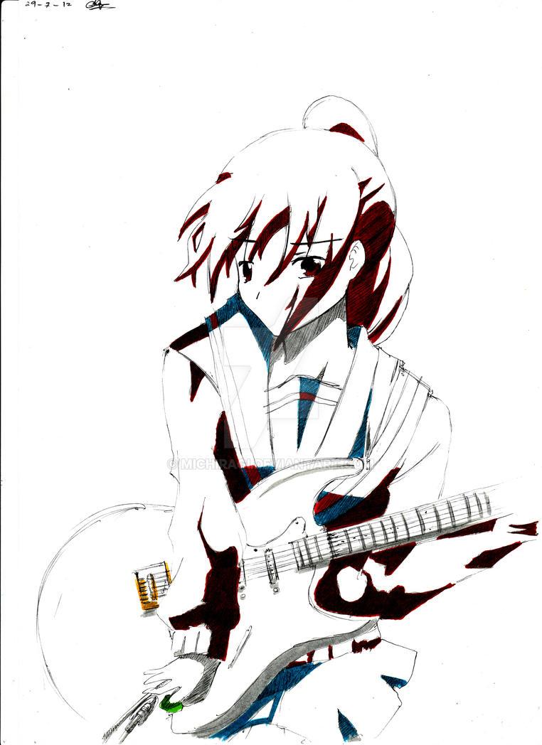 kyonko genderbend by michiragi on deviantart Fender Stratocaster 12 String Guitar kyonko genderbend by michiragi