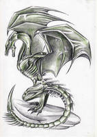 biomechanic dragon by Bephza