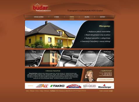 layout dla firmy budowlanej budar