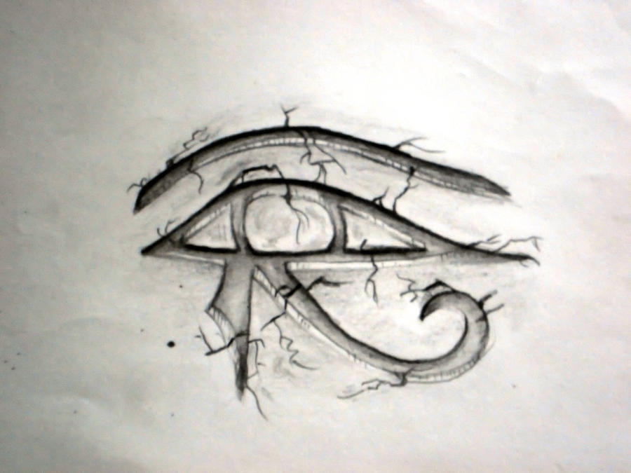 horus eye tattoo by bobbyamok on deviantart. Black Bedroom Furniture Sets. Home Design Ideas