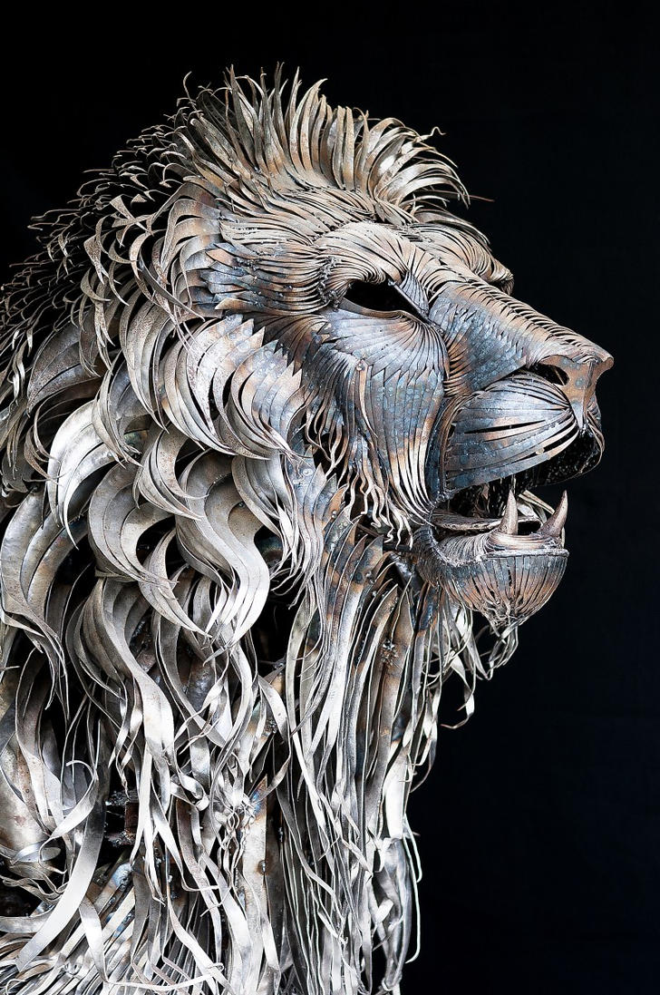 METAL LION SCULPTURE BY SELCUK YILMAZ by selcukk on DeviantArt