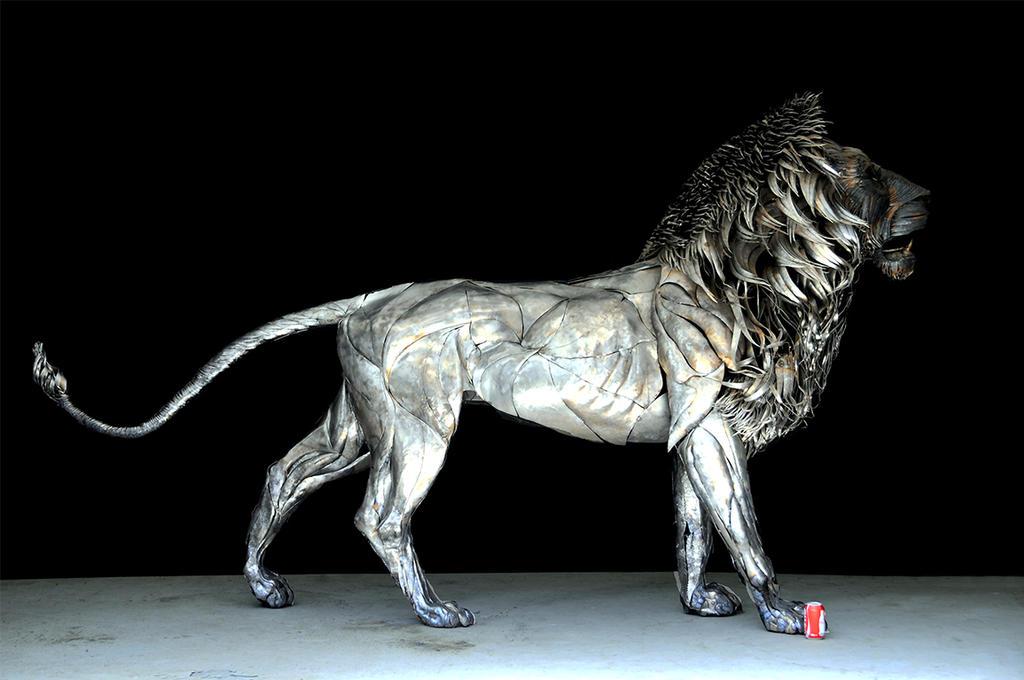 METAL LION SCULPTURE    BY   SeLCUK YILMAZ by selcukk