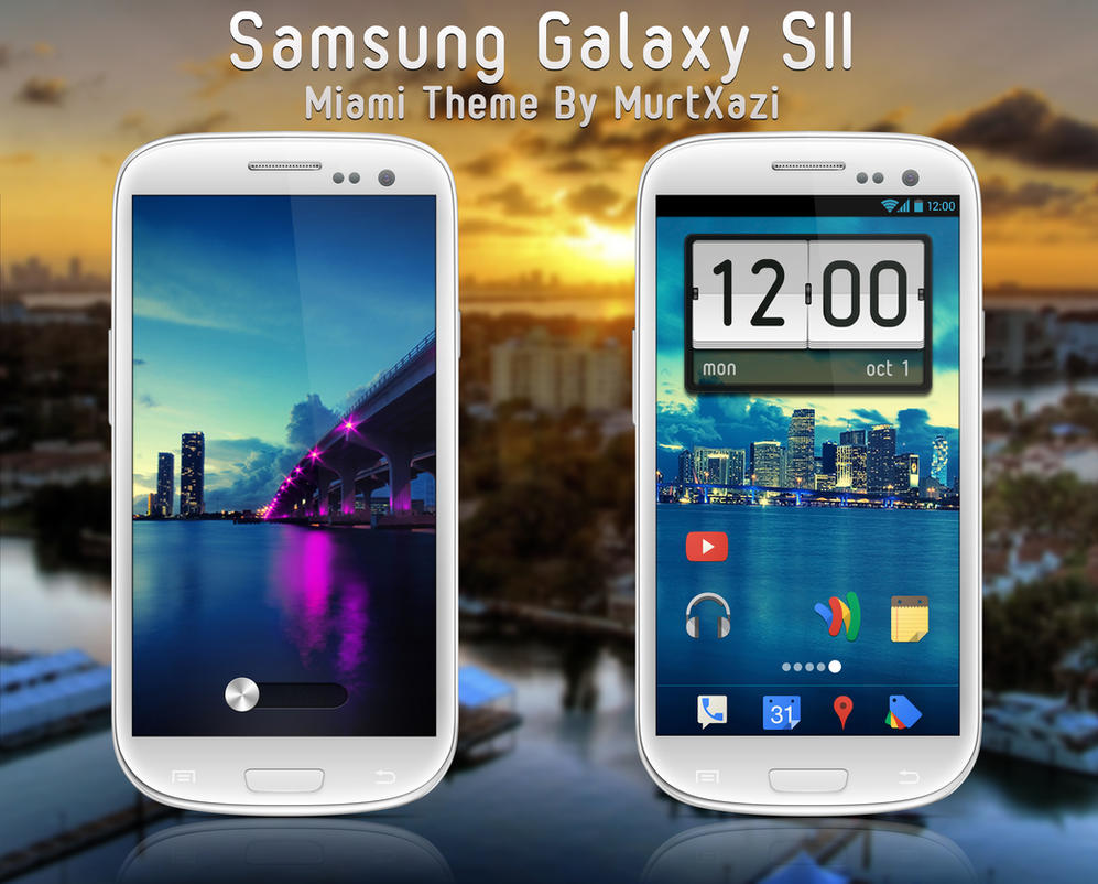 Samsung Galaxy SIII Miami Theme by MurTXazI