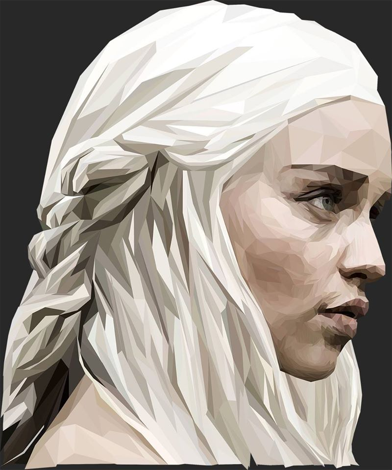 Khaleesi Lowpoly Portrait by MurTXazI