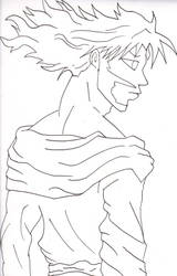Anime Jesus Sketch LineArt