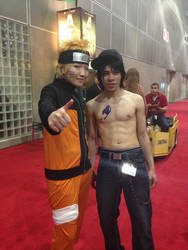Gray Fullbuster And Naruto Uzumaki Cosplay