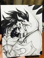 Black Winged Dragon Commission by waterarceus
