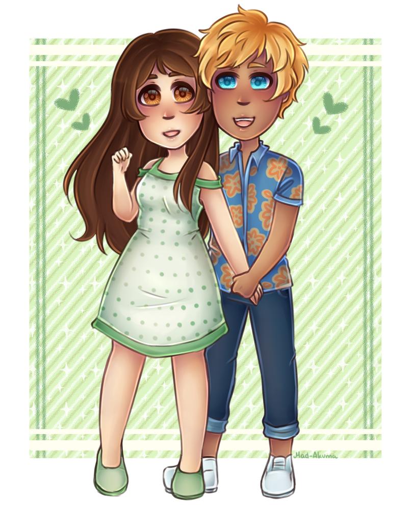 Garroth and Kim || Commission by Mad-Akuma