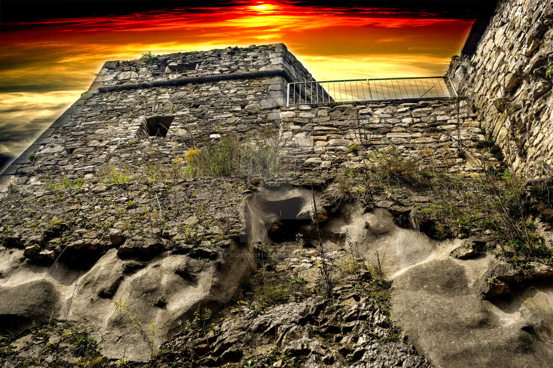 Abendstimmung auf der Burg by schiller142