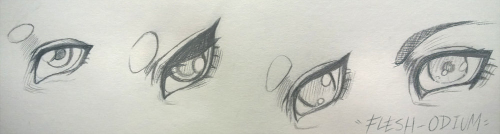 My eye styles by Flesh-Odium
