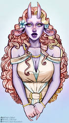 Ayla - (character design commission) by Willow-Bell