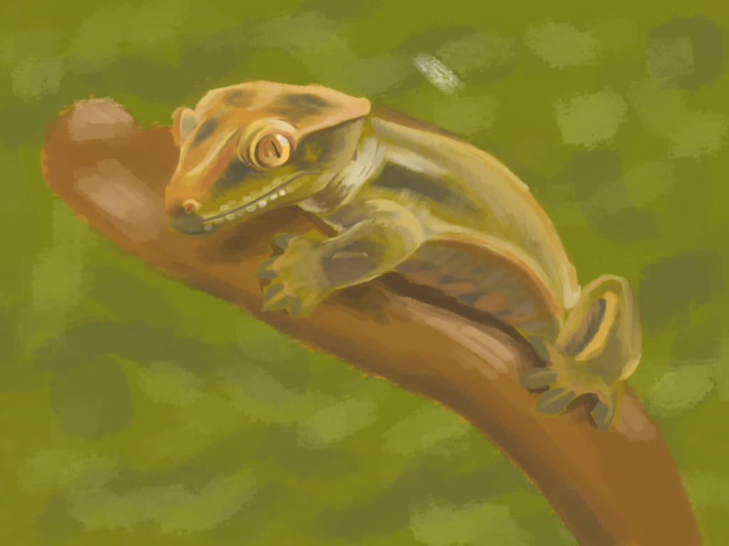 Gecko Painting by TREBJESANINart