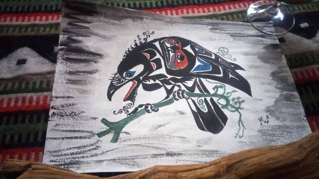 Sleeping Crow (aandeg) by tarotribe
