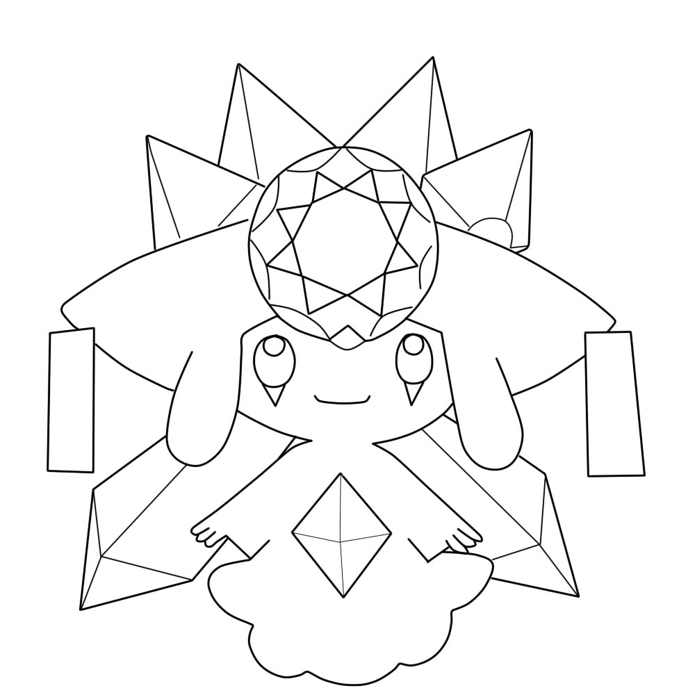 Mdiancie Pokemon Coloring Pages