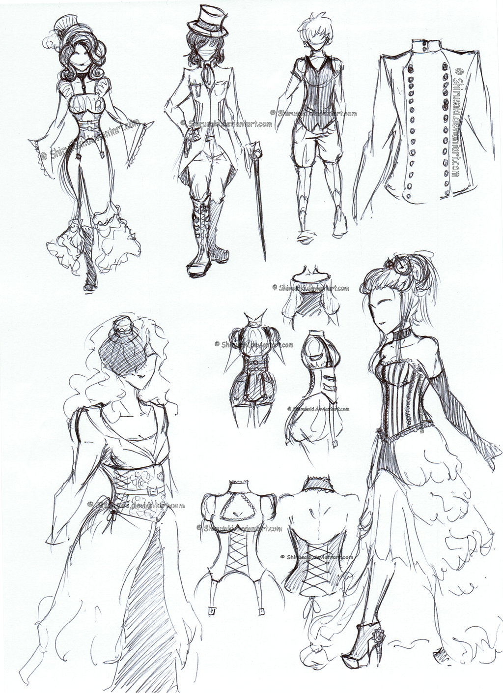 Manga Flowing Dress By Amongangels How To Draw Steampunk Clothes By  Shirusaki Steampunk Clothes By Shirusaki