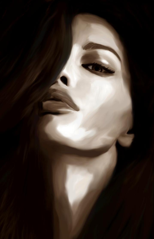Sepia portrait by Illiamsart