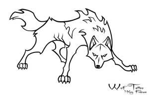 Wolf Tattoo by KayFedewa
