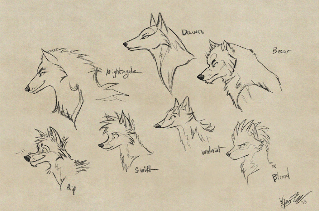 Character Profile sketches by KayFedewa