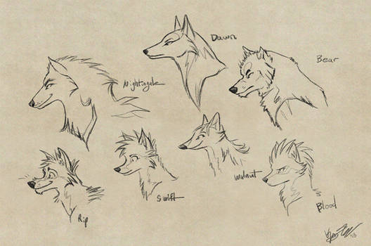 Character Profile sketches