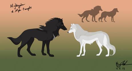 Alpha and Nightingale Comparison - Concept by KayFedewa