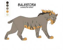 Character Sheet 24-Balestorm by KayFedewa