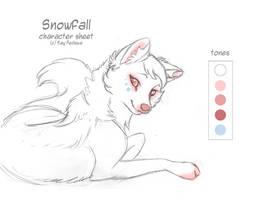 Char sheet 26 - Snowfall by KayFedewa
