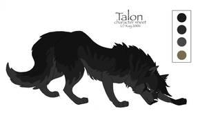 char sheet 28 - Talon by KayFedewa
