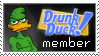 Drunk Duck member stamp by Adrakitt