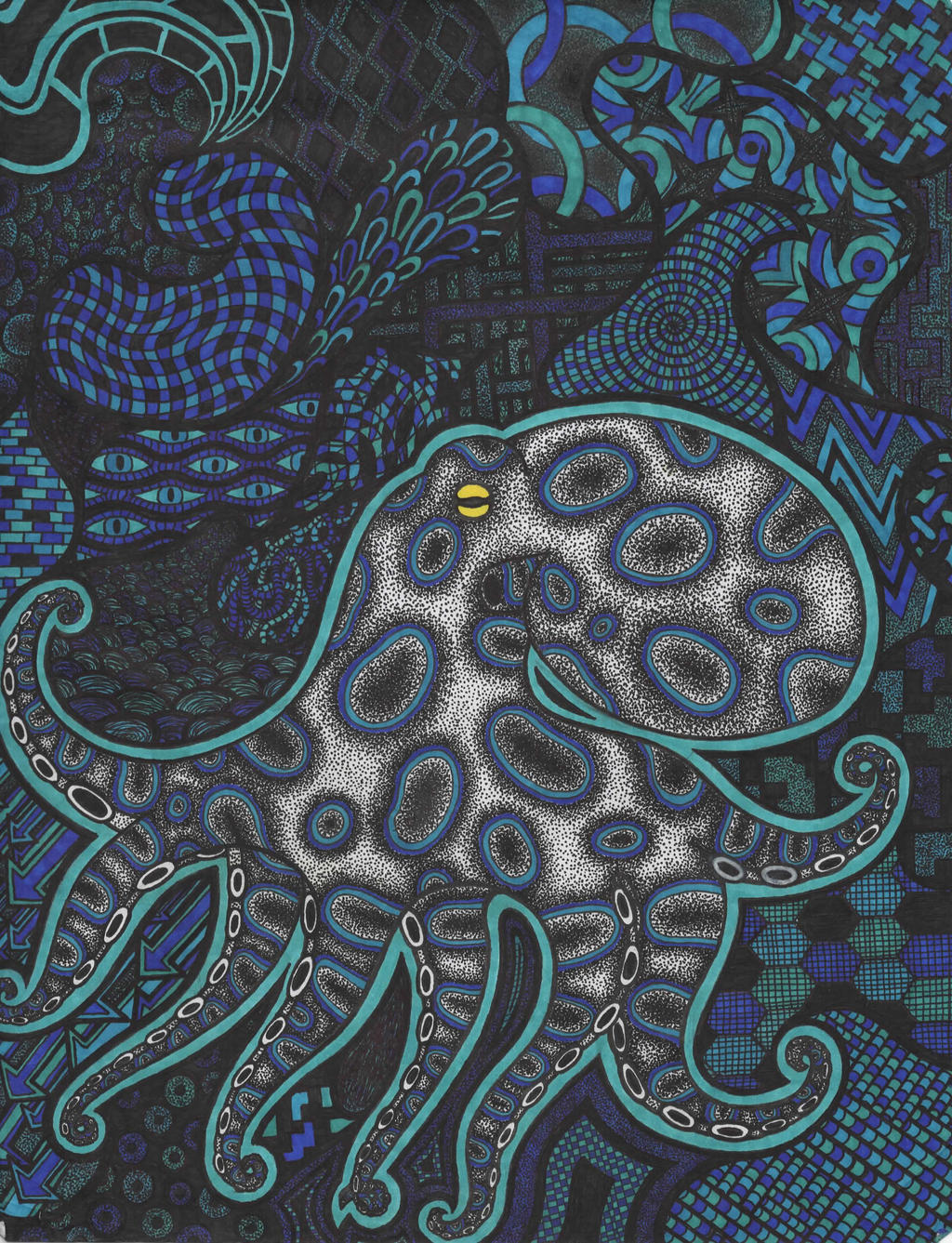 Blue Ringed Octopus by DevTheDeviant on DeviantArt