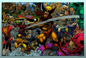 Wolverine Montage Recreation By Dalgoda7 Colorer