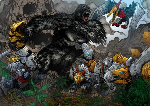 Kong Vs Dinobots