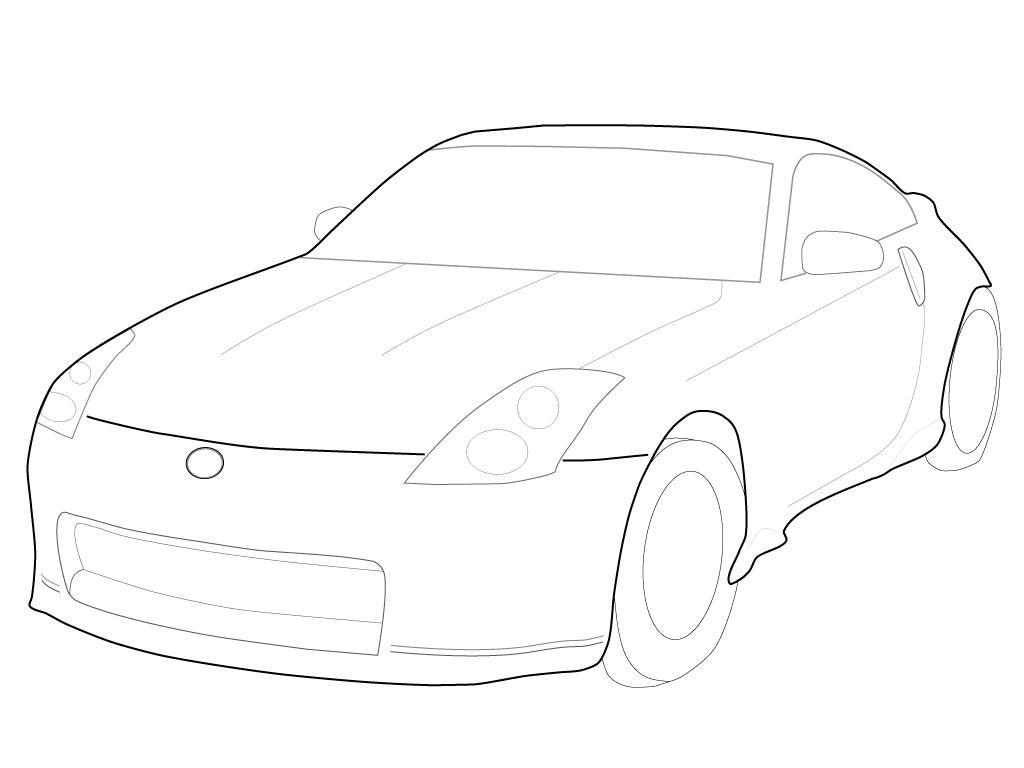 350z outline vector by Edyx on DeviantArt